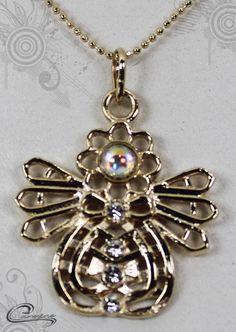 Pingente Kalina joias com significado - Joias plated com 10 camadas de ouro 18k