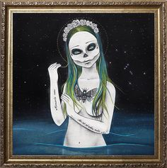 Day of the dead calavera Pop Surrealism by Valeriebelkindart