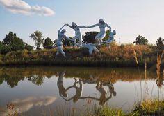 Travelogue: Grounds For Sculpture Is Highbrow Kitsch Meets Creative Genius Seward Johnson, Travelogue, Daydream, Kitsch, Acre, Bodies, Bucket, Museum, Sculpture