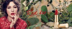 Monica Bellucci for Dolce & Gabbana Classic Cream Lipstick Ad Campaign | FashionMention