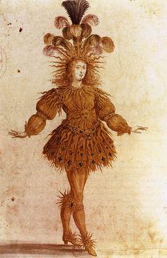 Early ballet costumes: Elaborate headdresses & stiff clothes | Le Ballet de la Nuit