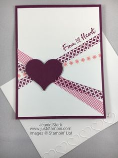 Stampin Up Petal Palette washi tape card idea – Jeanie Stark StampinUp Stampin Up Petal Palette Washi Tape Card Idee – Jeanie Stark StampinUp Pretty Cards, Love Cards, Diy Cards, Planner Stickers, Washi Tape Cards, Karten Diy, Handmade Birthday Cards, Handmade Anniversary Cards, Heart Cards