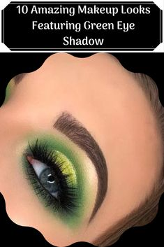 10 Amazing Makeup Looks Featuring Green Eye Shadow Green Smokey Eye Especially if you have green eyes, green eye shadow. Under Eye Makeup, Black Eye Makeup, Green Makeup, Makeup For Brown Eyes, Mask Makeup, Skin Makeup, Makeup Tips, Beauty Makeup, Beauty Tips