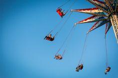Coney Island street photography of an amusement park ride