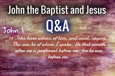 John the Baptist and Jesus preached and taught similar things. There's a pearl of great price found by taking a look at the ministry of Jesus and of John.