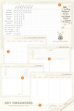 Get Organized - January's free download - Photo Studio Worksheets — EW Couture Collection