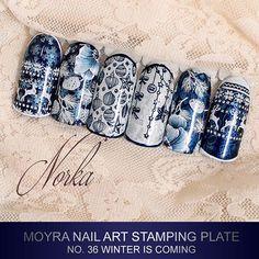 Coming soon! New Moyra Stamping Plate No. 36 Winter is coming  #moyra #nailart #stamping #plate #winteriscoming #new #koromnyomda
