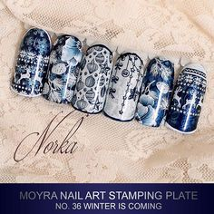 Coming soon! New Moyra Stamping Plate No. 36 Winter is coming #moyra #nailart #stamping #plate #winteriscoming #new #koromnyomda