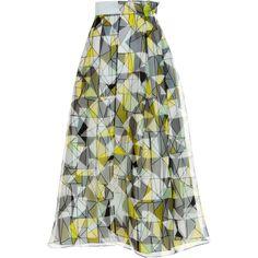 ROKSANDA Linton Skirt ($1,775) ❤ liked on Polyvore featuring skirts, pleated skirt, green pleated skirt, knee length pleated skirt, green skirt and green midi skirt