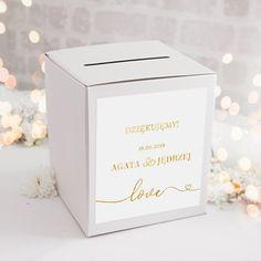 PUDŁO na telegramy z personalizacją Only Love - slubnezakupy. Decorative Boxes, Love, Amor, Decorative Storage Boxes