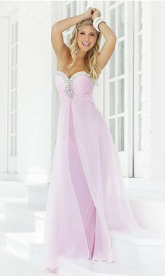 A-Line Strapless Long Chiffon Prom Dress 149.99