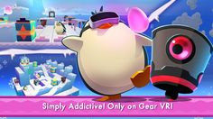 An awesome Virtual Reality pic! We are thrilled to announce that Waddle Home has been released for the #Samsung #GearVR!  In this #enchanted #frozen world the #Penguins are trapped and they need your help! Guide them to the Rescue Ship by opening doors and moving blocks. Help them waddle around traps and escape patrolling Guards. Save the penguins quickly and collect all 3 eggs for maximum points! With over 30 levels and a dozen puzzles you won't want to put it down   Download Waddle Home…