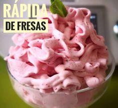 ESPUMA RÁPIDA DE FRESAS, una receta de Postres y dulces, elaborada por FRANCISCA GARCIA MOLINA. Descubre las mejores recetas de Blogosfera Thermomix® Málaga Centro