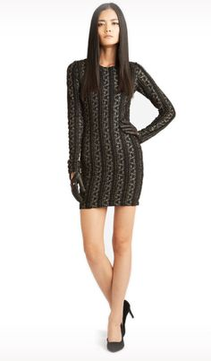 Jessie - A Fashion Boutique - Torn by Ronny Kobo - Danni Metallic Pointelle Dress -  Black/ Gold , $330.00 (http://www.jessieboutique.com/products/torn-by-ronny-kobo-danni-metallic-pointelle-dress-black-gold.html)