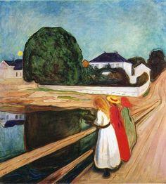 tamburina: Edvard Munch, The Girls on the Bridge, 1901