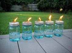 A Great Mosquito repellent: Fill 1/3 of a mason jar with 10 drops citronella oil and 2 tbsps of water.Mosquitoes hate citrus.