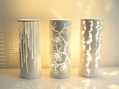 More Ways to Waste Time: Objects of Lust: Feinedinge Stella Lights. Ceramic but would be beautiful in paper or polyclay
