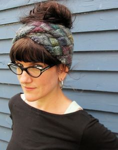 Free knitted headband pattern in entrelac stitch. Created by Rachel Price and Kate Burge. Knitting Patterns Free, Free Knitting, Knit Or Crochet, Crochet Hats, Head Band, Knit Headband Pattern, Knitting Magazine, Knitting Accessories, Knitting Yarn