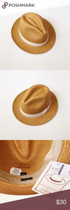 NWT J.Crew Straw Panama Hat NWT, never worn. J. Crew Accessories Hats