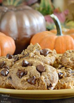 These Pumpkin Spice Chocolate Chip Cookies are soft, cakey and perfect for fall baking. And you only need 5 ingredients to make them!