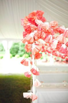 DIY: Coffee Filter Garland | The Wedding & Event Galleria by Bella  This one has the right link.