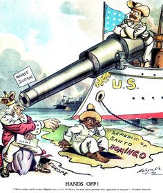 Roosevelt monroe Doctrine cartoon - Pax Americana - Wikipedia, the free encyclopedia American Presidents, American War, American History, American Country, American Imperialism, Monroe Doctrine, History Lesson Plans, Theodore Roosevelt, Political Cartoons