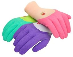 G & F 2030 Women garden gloves with Micro Form Nitrile coating, texture grip, 3 pair pack, http://www.amazon.com/dp/B0007YZ42I/ref=cm_sw_r_pi_awdm_qRdqvb14KBCRP