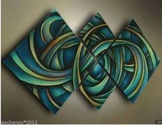 Modern Abstract Huge Wall Art Oil Painting on Canvas No Frame | eBay