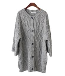 Korea womens apparel shopping mall [ANAIS]   luxurious texture coat cardigan  / Size : FREE / Price : 90.53 USD #korea #fashion #style #fashionshop #anais #casual #ootd #basic #daily #knit #cardigan #longcardigan