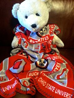 "Ohio State Buckeyes College Football Block Fleece Baby Blanket by CozyKrafts, $20.95  So many teams to choose from for the little ""Fan"" in your life!"