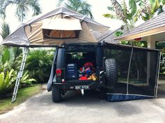 Jeep ARB roof tent and a Gobi roof rack