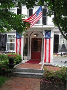 All decorated up for the 4th of July ---- The Colonial Inn, Concord, Massachusetts