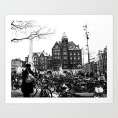 Bicycles Art Print by Francesca Vincis - $14.56