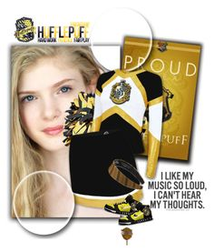 """""""Hufflepuff #7"""" by sasane ❤ liked on Polyvore featuring NIKE"""