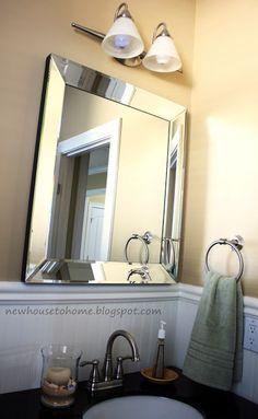 beautiful stenciled mirror - a free video workshop on mirror