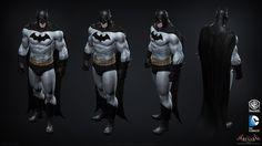 "ArtStation - Batman: Arkham Knight DLC, Iconic Grey & Black Batman skin Game Model, Jocelyn ""jocz"" Zeller"