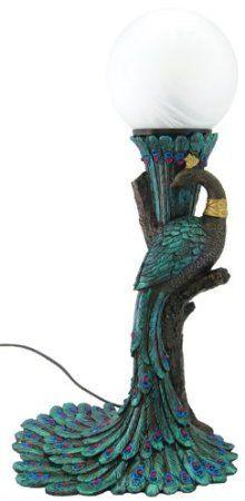 Sale - Art Nouveau- Art Deco - Peacock Lamp by francescaskitchen, Z Peacock Decor, Peacock Colors, Peacock Art, Peacock Theme, Peacock Design, Peacock Bedroom, Peacock Crafts, Peacock Feathers, Art Deco Lamps
