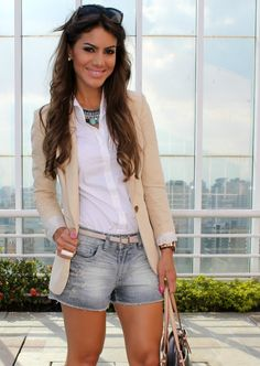 blazer e shorts Mais