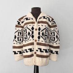Kids: Big Lebowski / Little Dude cardigan / Cowichan Style Kid's Sweater - Pendleton Style - NEW ready to ship on Etsy, $59.00