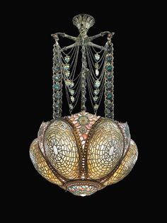A Rare and Early Chandelier, Circa 1895  Tiffany
