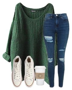 """Should really start putting my TAGLIST on these sets"" by christyaphan ❤ liked on Polyvore featuring Topshop, Converse and WALL"