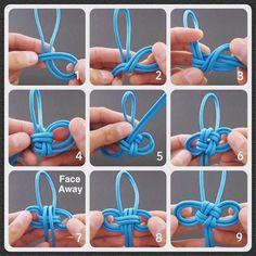 Japanese Omamori (御守) Tassel Knot - Step-by-Step (image) Instructions - Video instructions feat.Reposting jd lenzen japanese omamori knot step by step image video on fusionknots com tiat tyingitalltogether zenolen Paracord Knots, Rope Knots, Macrame Knots, Micro Macrame, Bracelet Knots, Bracelet Crafts, Rope Crafts, Diy And Crafts, Diy Bracelet