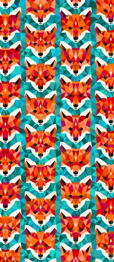 Russfussuk 'Vulpes' D4A #pattern #patterndesign #patternprint #fox #foxes #foxy #generative #geometria #cadernos #padrões #russfussuk