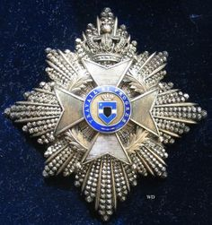 Order of Leopold II Grand Cross breast star; Type 1 1900-1908 (Congo Free State). 01