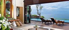 Best resort villas in Bali. Luxury Ocean View Bali Villas - AYANA Resort and Spa Bali Ayana Resort Bali, Resort Spa, Best Resorts, Hotels And Resorts, Bali Luxury Villas, Romantic Resorts, Living Comedor, Resort Villa, Hotel Suites