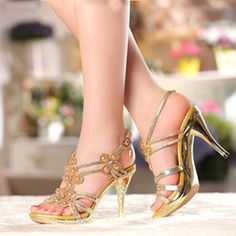 2017 inch ankle strap high heels Spring Summer Rhinestone Ankle Strap Sandals Women High Heel Sexy Open Toe Wedding Shoes 4 Inches Platform Formal Dress Shoes discount inch ankle strap high heels