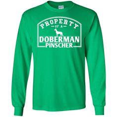 Doberman - Property Of A Doberman - LS Ultra Cotton Tshirt