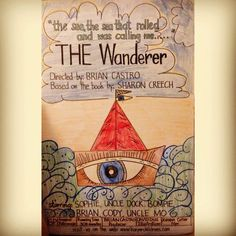 """Brian's grade """"Movie Poster"""" Project for """"The Wanderer"""" Book - year 2011 Arts And Crafts Projects, School Projects, Projects For Kids, Project 4, Project Ideas, Craft Ideas, Sharon Creech, Book Report Projects, Pine Cone Christmas Tree"""