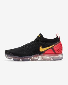 reputable site 1ee6c 78305 Nike Air VaporMax Flyknit 2 Mens Black Team Red Racer Blue White Shoes