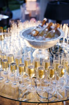 Cristal Champagne luxury, outdoor, party, pink and gray, wedding || Colin Cowie Weddings